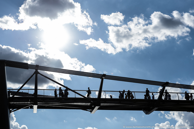 damianildo9 photography - humans - millenium bridge shadows - London - England